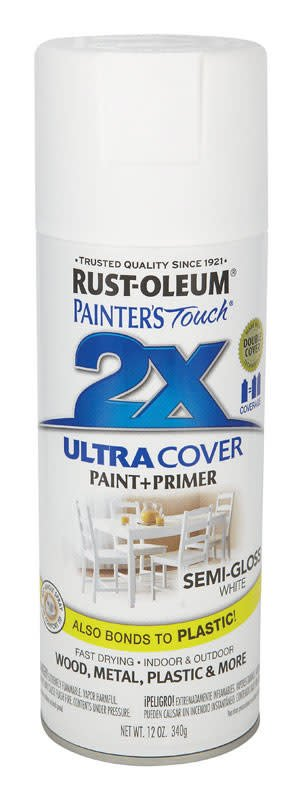 RUST-OLEUM CORPORATION 2X PAINTER'S TOUCH 24906 0 SEMI-GLOSS WHITE - AERO