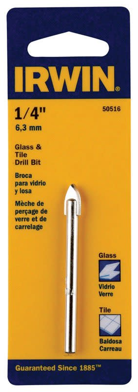 IRWIN 1/4 GLASS & TILE C.T. DRILL BIT