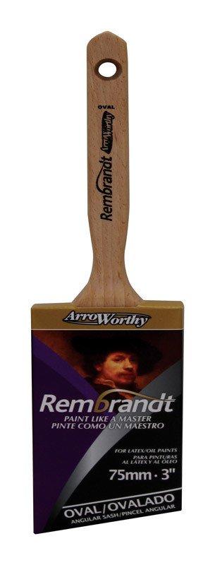 ARROWORTHY LLC ARROWORTHY REMBRANDT 3'' SEMI-OVAL ANGULAR PAINT BRUSH