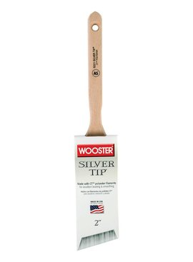 "WOOSTER BRUSH COMPANY WOOSTER 2"" SILVER TIP ANGLE SASH BRUSH"