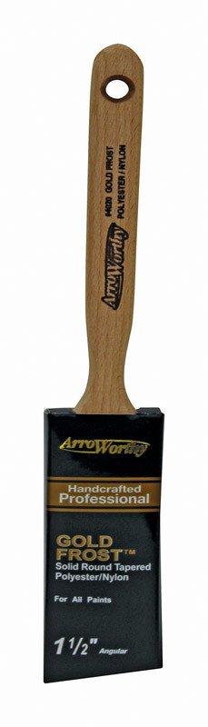 """ARROWORTHY LLC ARROWORTHY GOLD FROST 1 1/2 """" ANGULAR SASH BRUSH"""