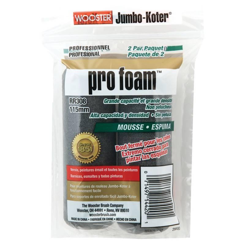 WOOSTER BRUSH COMPANY 4 1/2'' JUMBO-KOTER PRO FOAM ROLLER COVER 2-PK