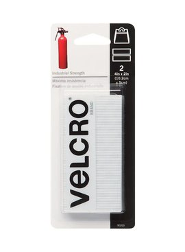 "INDUSTRIAL STRENGTH  VELCRO STRIP WHITE 2"" X 4"""
