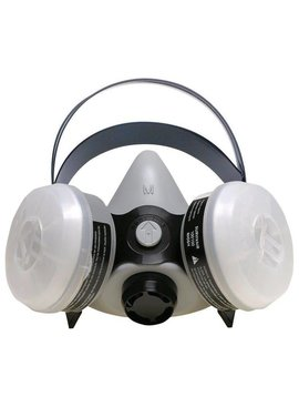 SPERIAN SURVIVAIR GRAY SILICONE PAINT/ PESTICIDE HALF MASK RESPIRATOR LRG