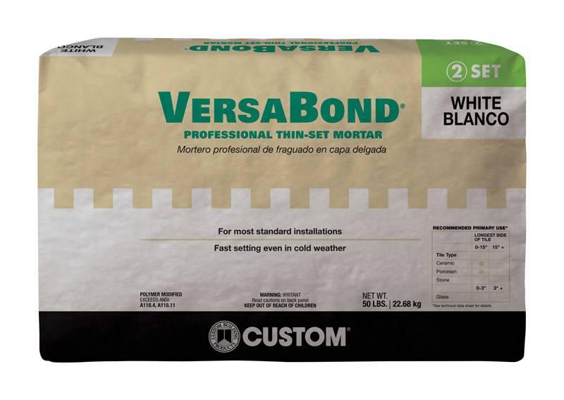 50LB VERSABOND WHITE BONDING MORTAR