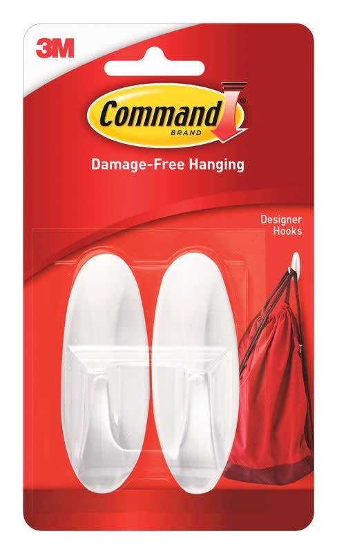 3M Command Medium Designer  Hooks Two Pack