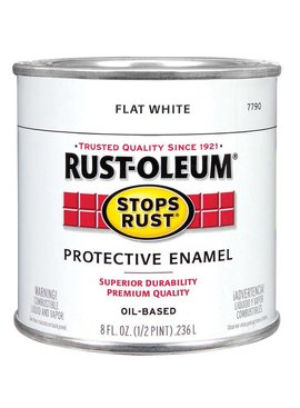 RUST-OLEUM CORPORATION PAINT.5PT FLAT WHITE R-O
