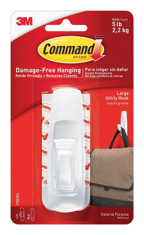 3M Command Large Utility Hooks One Pack