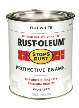RUST-OLEUM CORPORATION FLAT WHITE PROTECTIVE ENAMEL QUART