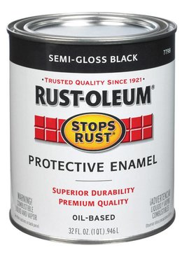 RUST-OLEUM CORPORATION SEMI-GLOSS BLACK PROTECTIVE ENAMEL QUART