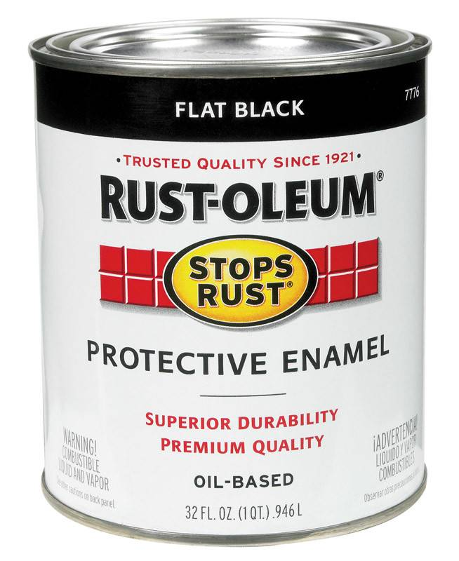 RUST-OLEUM CORPORATION FLAT BLACK PROTECTIVE ENAMEL QUART