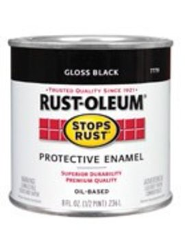 RUST-OLEUM CORPORATION PAINT.5PT GLOS BLACK R-0