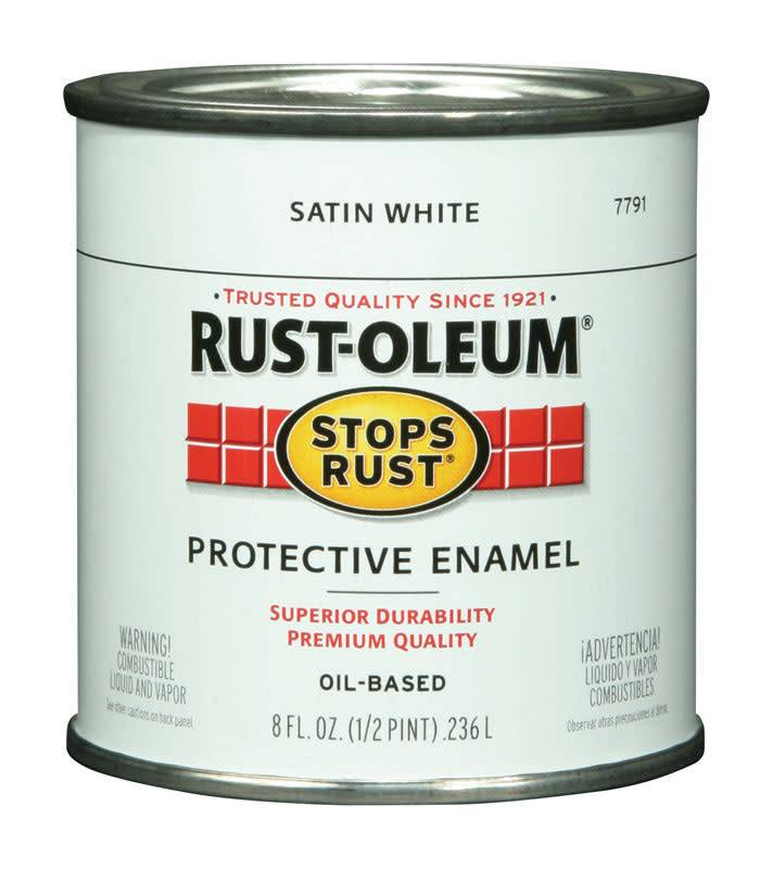 RUST-OLEUM CORPORATION PAINT.5PT SATN WHITE R-O