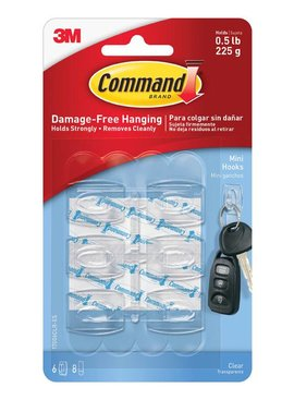 3M Clear Mini Hooks