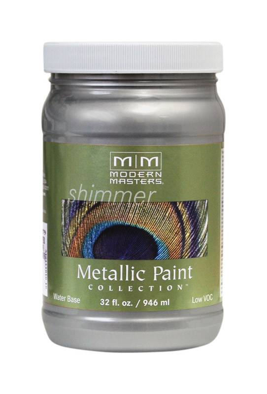 SILVER METALLIC PAINT COLLECTION 32OZ
