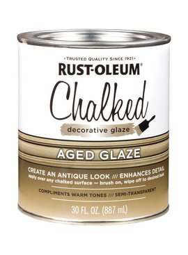 RUST-OLEUM CORPORATION CHALKED AGED GLAZE QUART