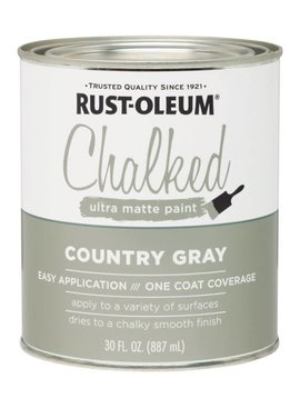 RUST-OLEUM CORPORATION CHALKED COUNTRY GRAY QUART