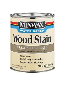 MINWAX MINWAX WATER BASED CLEAR TINT BASE QUART