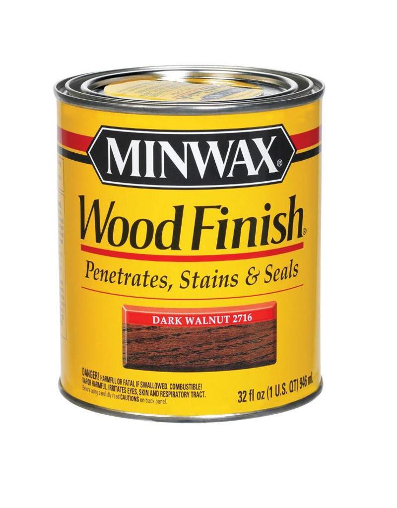 MINWAX STAINS 2716 MINWAX DARK WALNUT WOOD STAIN QUART