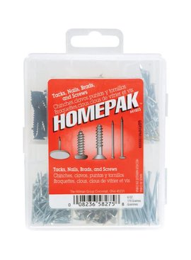 7-CAVITY HOMEPACK TACK, NAIL, BRAD & SCREW ASST.