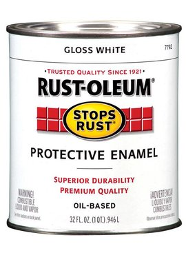RUST-OLEUM CORPORATION GLOSS WHITE PROTECTIVE ENAMEL QUART