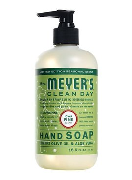 MRS. MEYERS 12.5OZ LIQUID HAND SOAP - IOWA PINE- HOLIDAY EDITION
