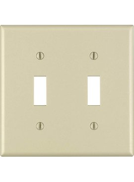 LEVITON LEVITON TWO GANG SWITCH WALLPLATE IVORY