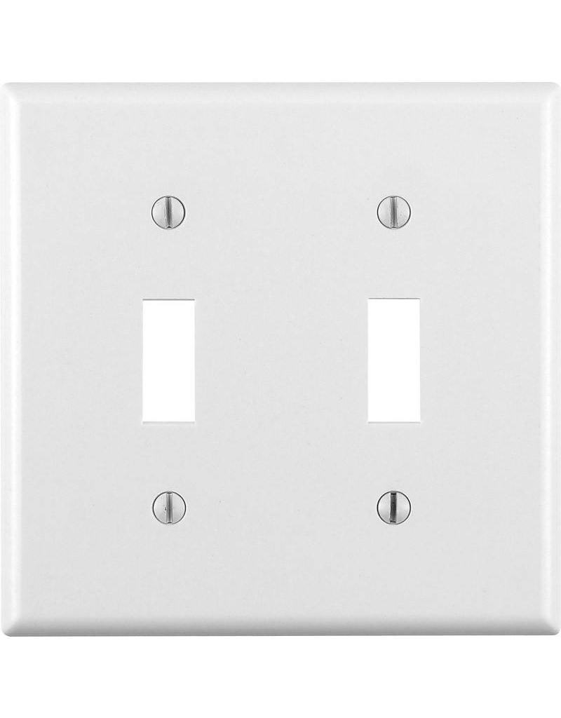 Leviton Leviton Two Gang Switch Wallplate White Cappys Paint And