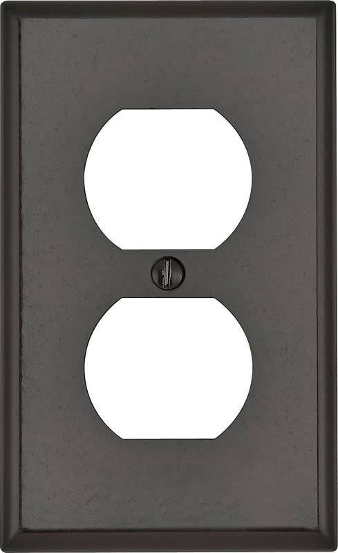 LEVITON LEVITON ONE GANG OUTLET WALLPLATE BROWN