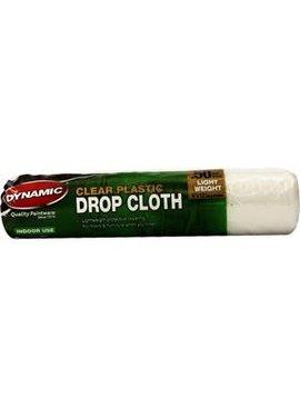 Dynamic  9' x 12' .50mil Clear Rolled Drop Cloth