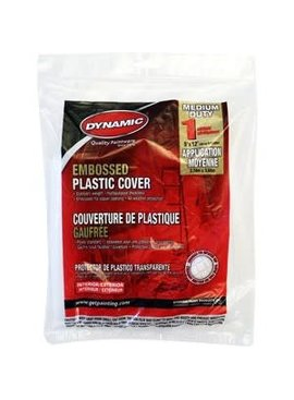 Dynamic  9' x 12' 1mil Plastic Drop Cloth Flat Pack