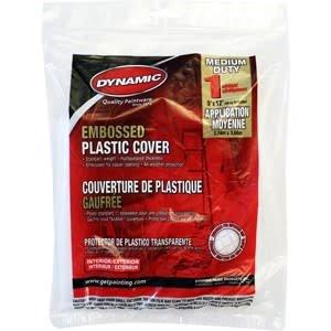 Dynamic  9' x 12' 1mil Plastic Drop Cloth Flat Pack