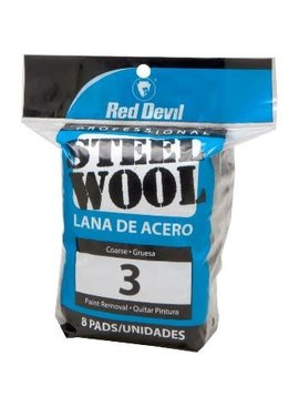 STEEL WOOL COARSE #3 8/PACK