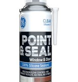 GENERAL ELECTRIC G.E. POINT & SEAL CLEAR 100% SILICONE WINDOW & DOOR 7.25OZ