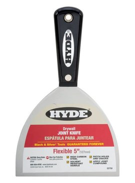 "HYDE TOOLS HYDE 02750 5"" BLACK & SI LVER FLEX JOINT KNIFE - EACH"
