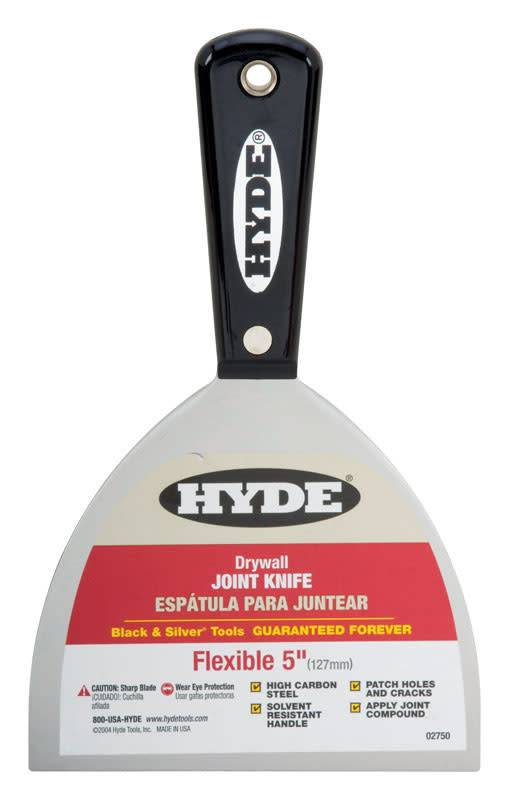 """HYDE TOOLS HYDE 02750 5"""" BLACK & SI LVER FLEX JOINT KNIFE - EACH"""