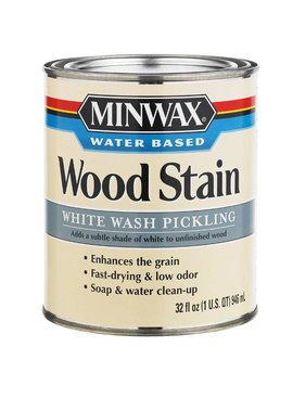 MINWAX QT WHITE WASH PICKLING STAIN WATER-BASED