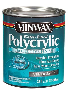 MINWAX POLYCRYLIC PROTECTIVE FINISH SATIN QUART