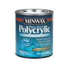 MINWAX POLYCRYLIC PROTECTIVE FINISH SEMI-GLOSS QUART