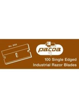 PACOA BS-9 SINGLE EDGE B LUE STEEL RAZOR BLADE - BOX