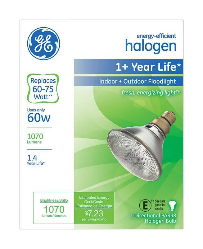 GENERAL ELECTRIC 60W PAR 38 INDOOR/OUTDOOR FLOODLIGHT
