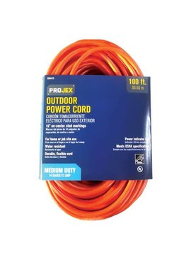 PROJEX 100' IN/OUT EXTENSION CORD ORANGE