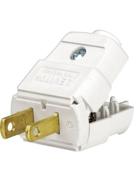 LEVITON LEVITON LIGHT DUTY PLUG WHITE