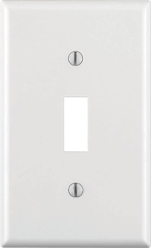 LEVITON LEVITON ONE GANG SWITCH WALLPLATE WHITE