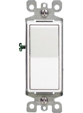 LEVITON LEVITON DECORA 3-WAY GROUNDING SWITCH WHT