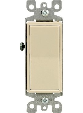 LEVITON LEVITON DECORA GROUNDING SWITCH IVORY