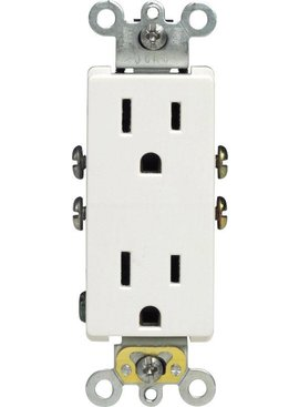 LEVITON LEVITON DECORA GROUNDING OUTLET WHITE