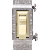 LEVITON IVORY GROUNDING QUIET SWITCH SEE PACK