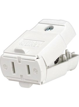 LEVITON LEVITON  LIGHT DUTY CONNECTOR WHITE