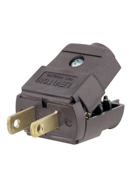 LEVITON LEVITON LIGHT DUTY PLUG BROWN